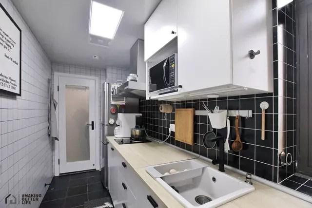 kitchen reface depot serving tools 仓库案例 做好这一点多出一个家庭影院 知乎 厨房墙面使用当下较为流行的拼块砖 但是行走区域和操作区域的瓷砖颜色不同