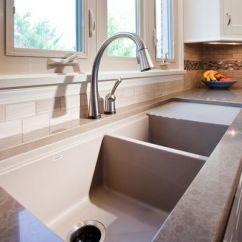 Kitchen Sinks With Drainboard Built In Backsplashes For 设计你的厨房 如何选择水槽尺寸 知乎 就个人而言 我宁愿在我的厨房台面或厨房的地板上花费的不水槽更多一点 毕竟您可以得到一个完美的70厘米宽的不锈钢水槽不到2000块 你平时可以在淘宝京东等网站多