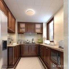 Kitchen Aid Cabinets Mens Shoes 1个厨房的14款装修方案 中看又中用 邻居看到都点赞 知乎 美式厨房色调浓重的木质橱柜 搭配柜门金色装饰 厨房复古醇厚 且贵气精致
