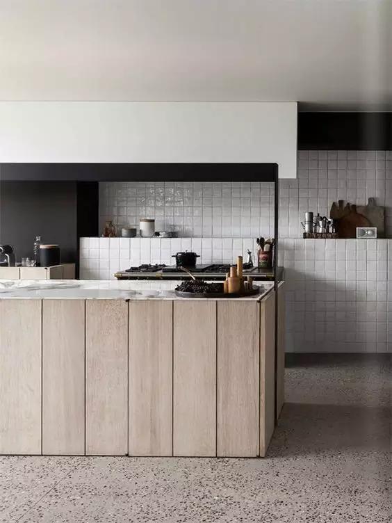 copper sink kitchen drain pipe 别人都用瓷砖,我偏偏想用水磨石,它的色彩瓷砖很难做出来,还不起尘、好清洁 - 知乎
