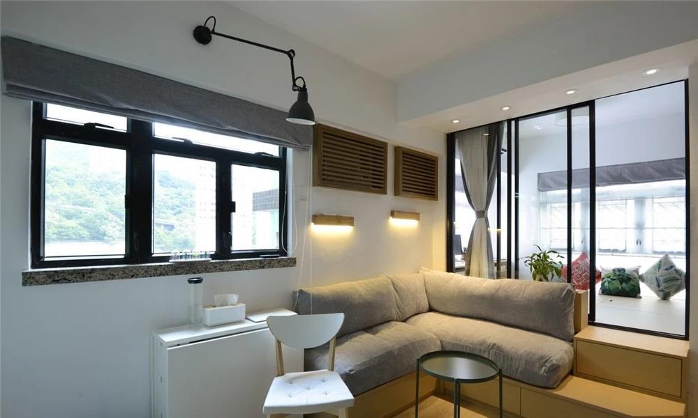 distressed kitchen chairs wallpaper backsplash 港漂夫妻打造32 老破小 干湿分离卫生间 全功能厨房都有了 知乎 全
