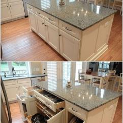 Best Kitchen Island Moen Oil Rubbed Bronze Faucet 厨房收纳整理有哪些最佳实践 知乎 中岛下方做成抽屉或者单元柜 厨房的储物空间立马增加一倍