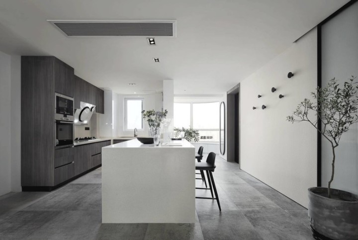 kitchen island with range cabinet hinge 开放式厨房有哪些好看的厨房中岛兼餐桌设计 知乎 厨房岛台的设置能承担厨房的部分功能 例如操作料理台 就餐区 吧台等 岛台的合理规划很好地缓解小户型厨房运转时的压力