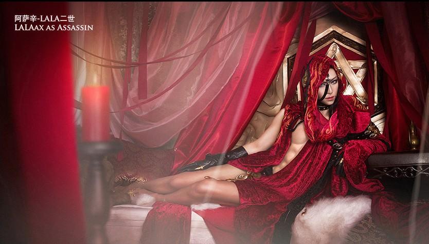 coser神還原妖艷阿薩辛大人 帶你紅火迎新年_52pk劍網3圖片站