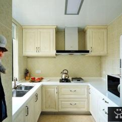 Kitchen Cabints Island Bar Stools 厨柜效果图 58同城装修效果图大全 U型厨房装修厨柜效果图