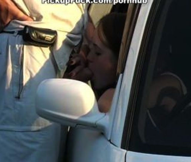 Deep Blowjob In The Car And Outdoors