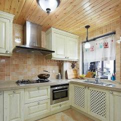 Kitchen Curtain Sets How To Make Spice Racks For Cabinets 厨房装修桑拿板吊顶效果图大全_土巴兔装修效果图