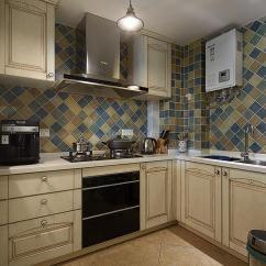 Kitchen Curtain Sets Cabinet Designs In India 地中海家装瓷砖厨房设计图片_土巴兔装修效果图
