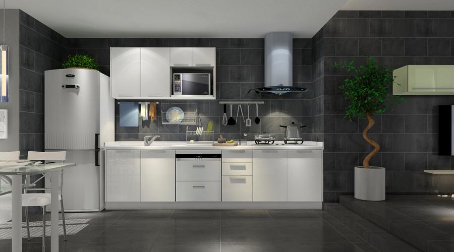 grey kitchen tile island posts 灰色厨房瓷砖效果图案例 土巴兔装修效果图