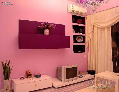 black kitchen rugs home depot garbage cans 粉色系欧式婴儿房墙纸效果图-土巴兔装修效果图