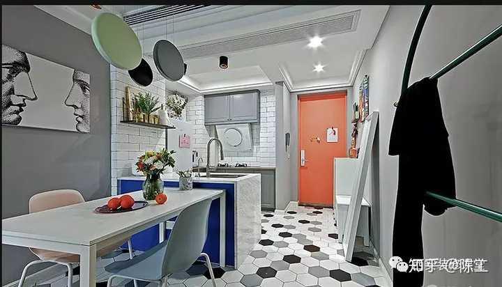 kitchen island with range home depot cabinet 开放式厨房有哪些好看的厨房中岛兼餐桌设计 知乎 北欧风 开放式厨房 岛台兼顾操作台 同时起到分割区域作用