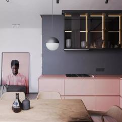 Black Kitchen Rugs Office Appliances 那个高大威猛的男士 用粉色装修了家 知乎 这样的组合再搭配上原木色的餐桌餐椅 比单纯用灰黑色设计厨房 在视觉上更加温暖 舒适