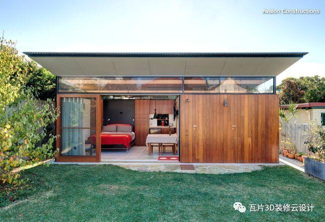 backyard kitchen designs build your own cabinets 全球最有创意的15个后院小屋设计 知乎 1 悉尼 这些时髦的客房不只是为客人准备的哟 打开右边的两扇门 可以看到别有洞天的浴室 洗衣房和一个灯光充足的车间储存空间 有多少人内心其实是喜欢室外淋浴呢