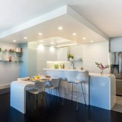 Small Kitchen Table Ideas The Best Way To Clean Cabinets 纽约设计师告诉你开放式厨房同样适合中国家庭 知乎