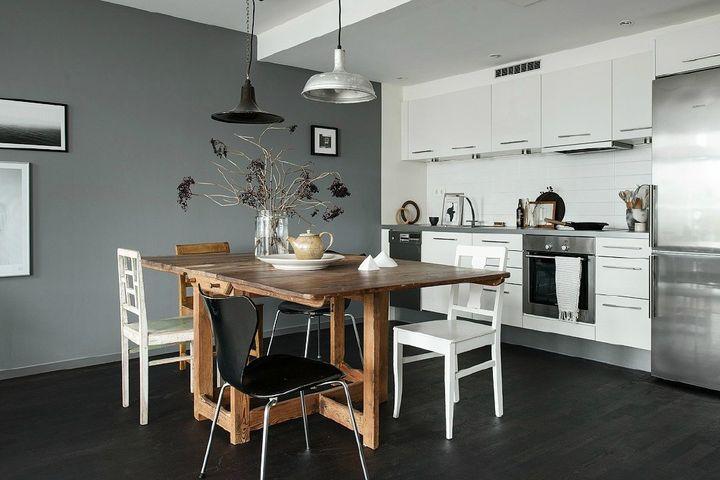 kitchen flooring trends wall organizer 地板颜色这样选 提亮全屋好气色 知乎 极少见的黑色厨房 酷到没朋友 需要提醒大家的是 厨房必须是家里最亮的地方 想铺黑色地板 要么保证天然光线好 要么就自己做好照明