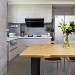 Kitchen Table Legs With Pantry Cabinet 130平方极简三居室 用最简约的细腿家具打造简约的家 知乎 餐厅采用开放式厨房 原木稳定的桌腿 让家更美好