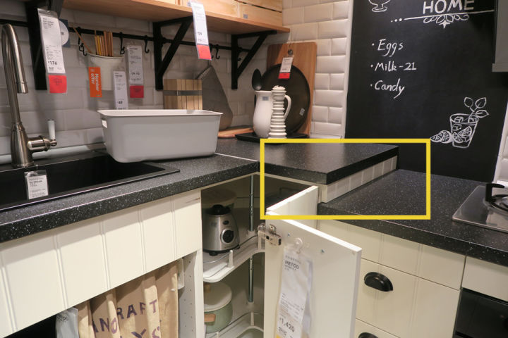 ikea kitchen counter compost bin for 宜家厨房样板间里的10个套路 装修手册 知乎 大多数厨房台面只有一个高度 在使用中会发现 准备食材和烹饪食材 总有一半工作让手臂很受累 而这个宜家厨房 烹饪区略低 是考虑放了锅之后 操作时也是舒适