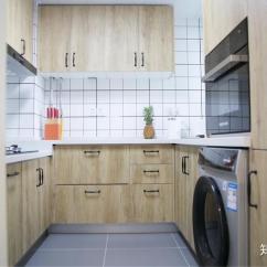 Kitchen Remodeling Silver Spring Md Black Island Cart 你家的装修是怎样的 共花费多少 知乎 厨房尽可能空间利用率最大化 做了u型台面 洗衣机 冰箱 水槽洗碗机 烤箱全部嵌入厨房 使用起来非常方便