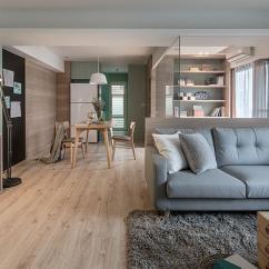 Repaint Kitchen Cabinets Metallic Wall Tiles 79 三室两厅 40年老房翻新 薄荷绿 温润木质材料 打造一家三口的自然 温润