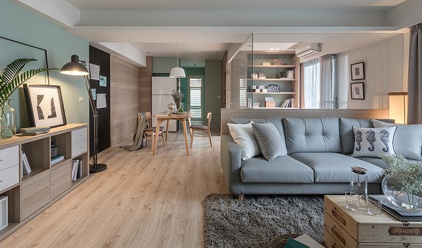repaint kitchen cabinets long islands 79 三室两厅 40年老房翻新 薄荷绿 温润木质材料 打造一家三口的自然 温润