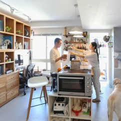 Cement Kitchen Sink Designer Seattle 拆掉厨房改出两厅一室 洗手池扔出卫生间 铺满水泥自流平的家 我们记录