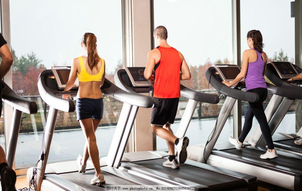 跑步機健身圖片_女性女人_人物圖庫_圖行天下圖庫