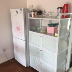 Used Kitchen Cabinets Nj Backslash In 4图 搬家铝合金钢化玻璃橱柜储物柜厨房收纳柜便宜卖 Sandm旧梦颜的闲置