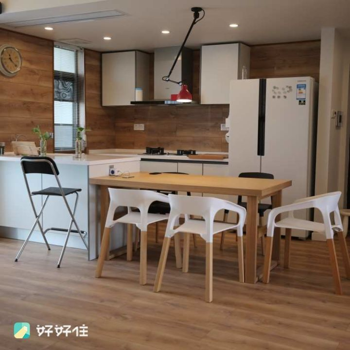 wood flooring for kitchen solid oak island 如何在厨房使用木地板 知乎 2 厨房地面和墙面都铺了木地板