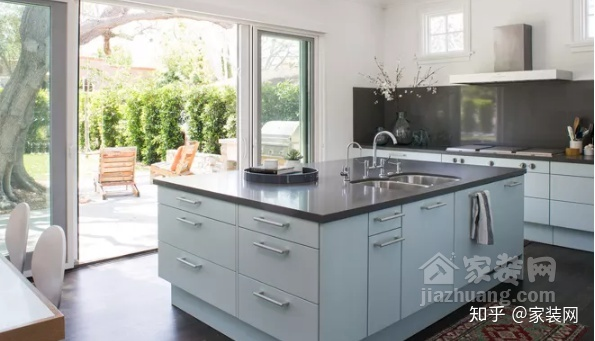 grey kitchen countertops 22 inch sink 六种厨房台面颜色 你喜欢哪一种 知乎 5 灰色厨房台面
