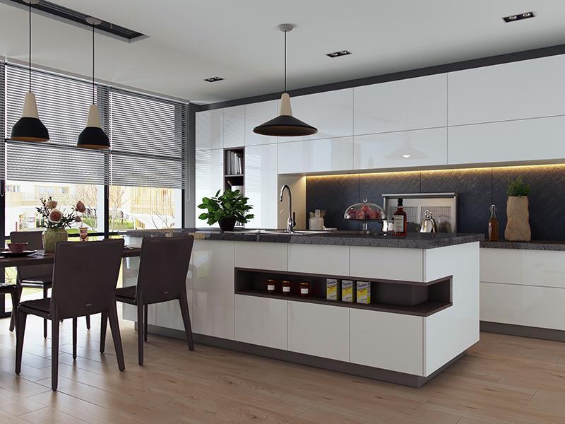 cheap kitchen storage white tables 开放式厨房装修的误区 你中招了吗 知乎