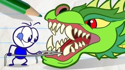創意鉛筆動畫:恐龍當寵物的鉛筆人-原創--高清正版影音線上看-愛奇藝臺灣站