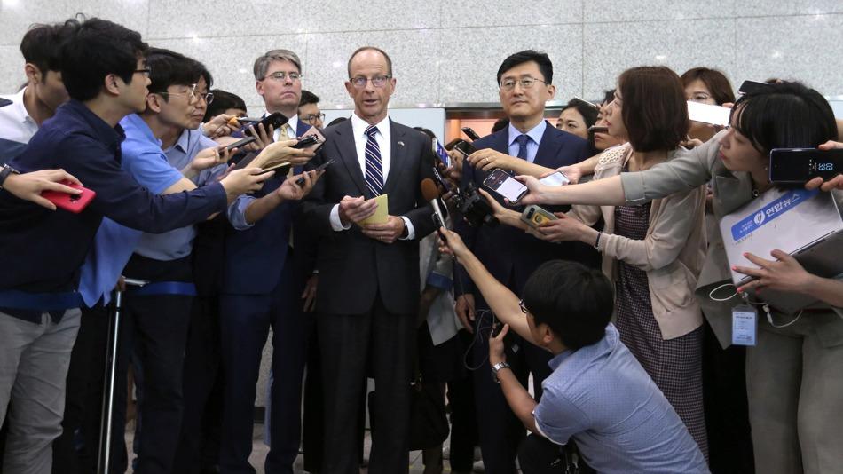 貿易爭端升級 美國助理國務卿先后訪問日韓[圖集]|多維新聞|視覺