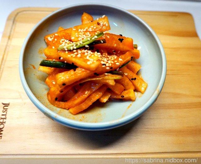 簡易臺式.韓國風味醃白蘿蔔(炸雞的絕配) @獨立進行式 - nidBox親子盒子