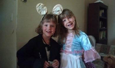 The girls for their Alice in Wonderland birthday.