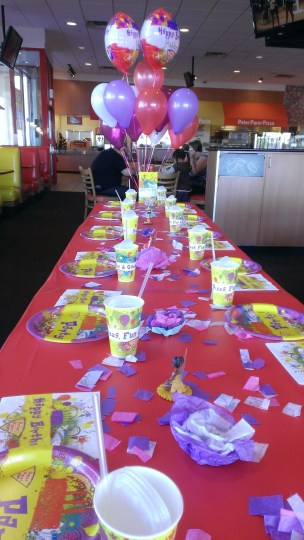 The party table.