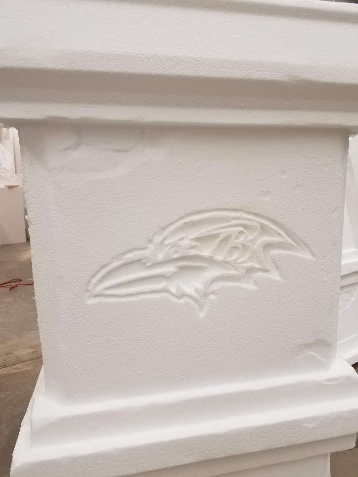Baltimore Ravens Logo Column Raw Foam