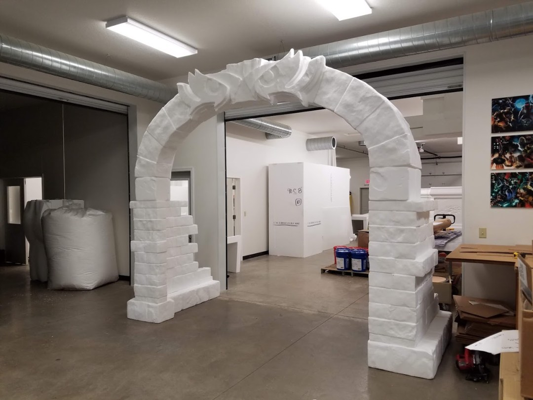 Themed Foam Props - Baltimore Ravens Arch - Raw Foam