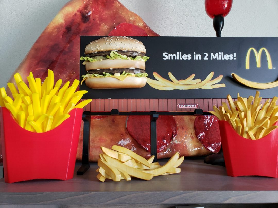3-D Scale Model of Big Mac Billboard