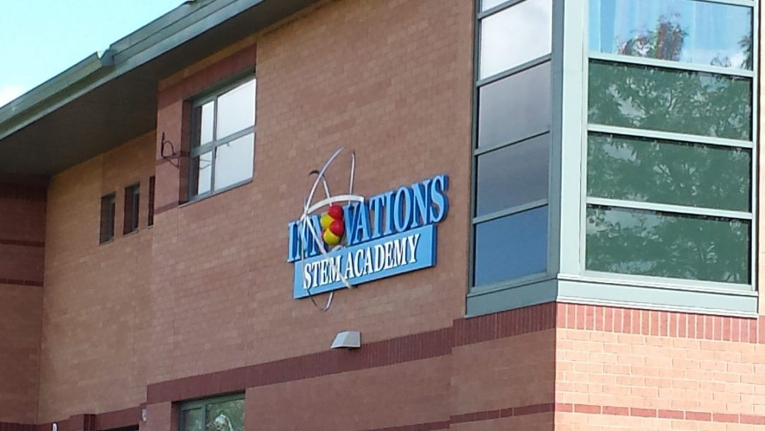 Building Sign - Innovations Stem Academy with Dimensional Elements