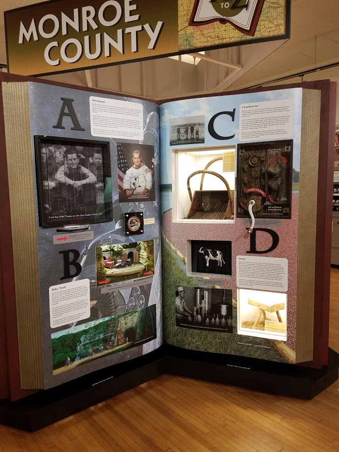 Museum Exhibit - Monroe County Alphabet Book A - D Pages