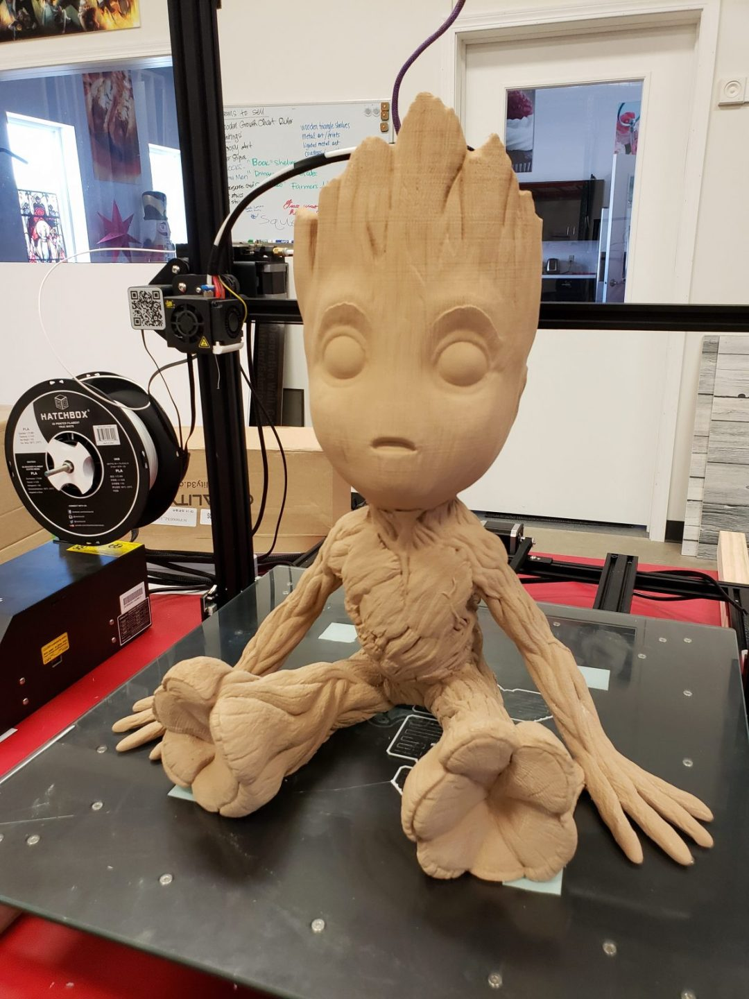 3-D Printed Baby Groot -Wood Filament
