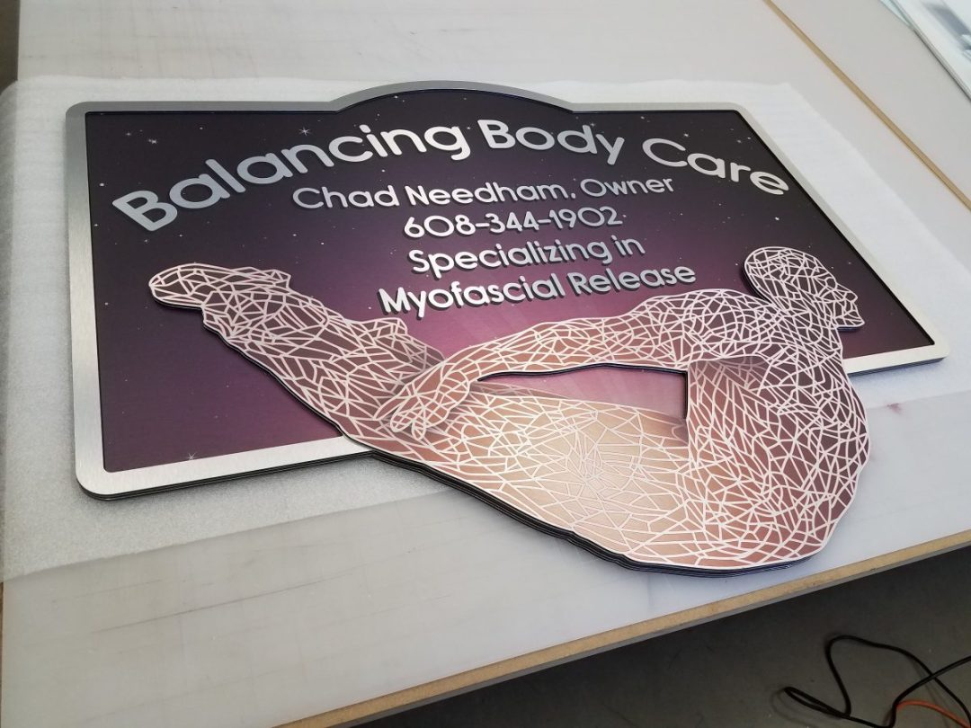 Exterior Sign on Metal - Balancing Body Care