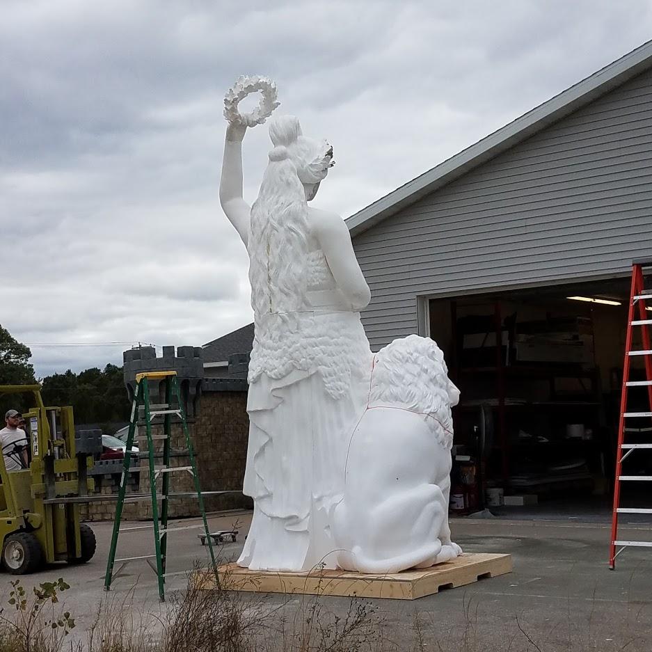 Fully Assembled Raw Foam Bavarian Maiden Sculpture