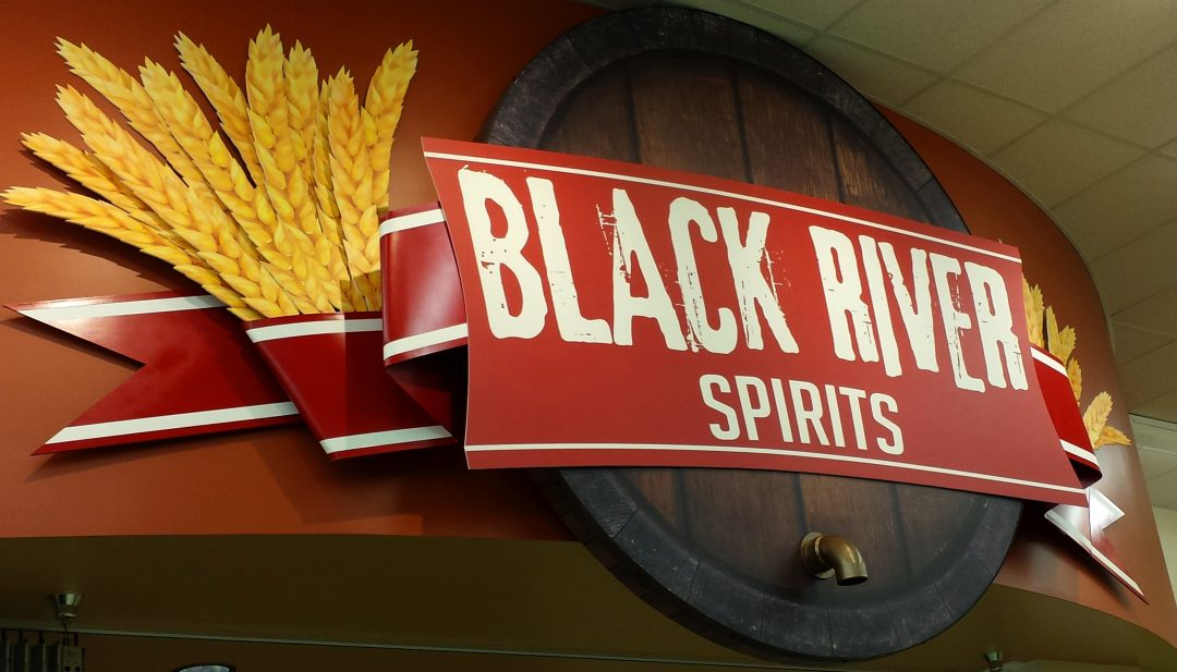Black River Wine and Spirits Custom Cut Foam And PVC Prints