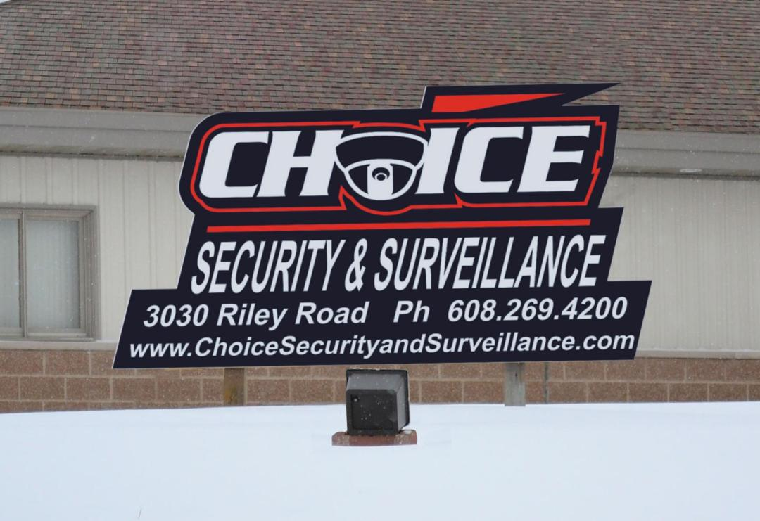 Choice Security Sign
