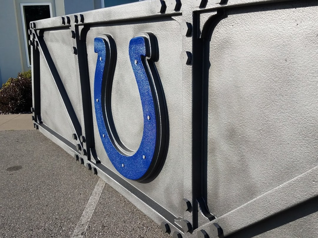 Fire Rated Foam Sled for Pyrotechnics during Indianapolis Colts Team Intros