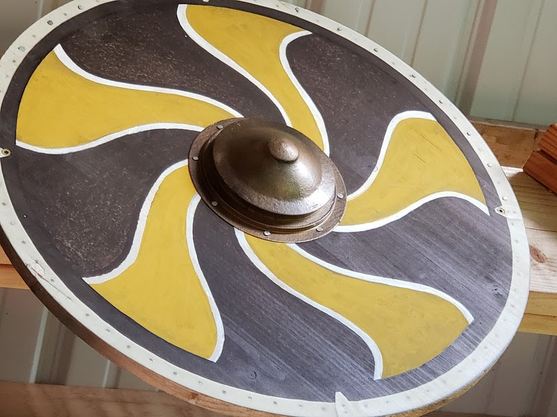 Copper Swirl Shield Boss - Wood Prints