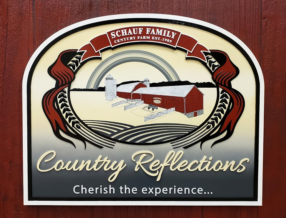 Country Reflections Carved Foam Sign