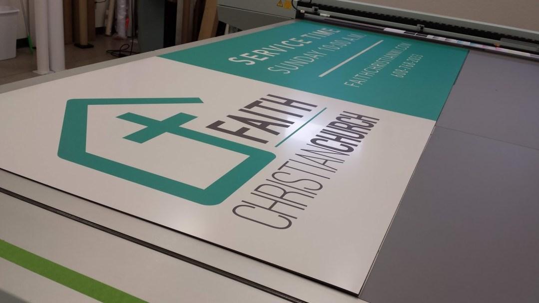 Faith Church Sign - Direct Print Metal