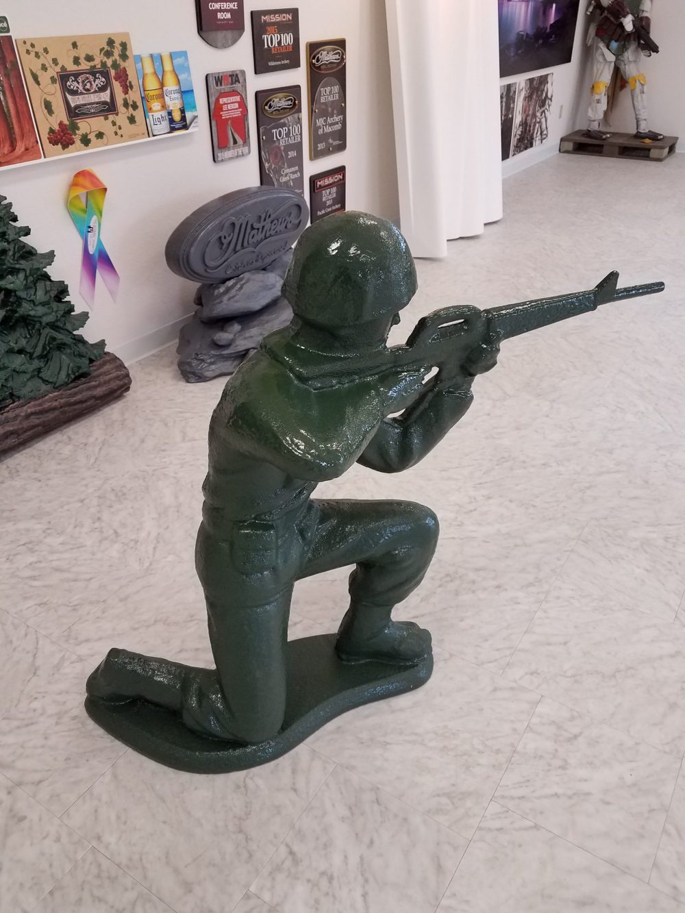 Foam Sculpting - 3' tall Green Army Man Character